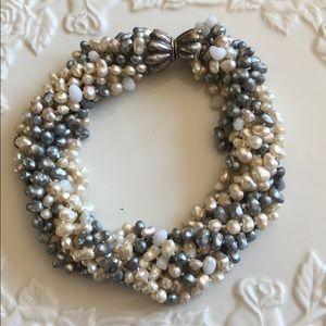 Les Bernard Freshwater pearl necklace